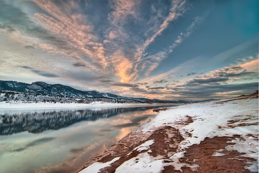 Colorado Photograph - Horsetooth Sunset Hdr by Preston Broadfoot