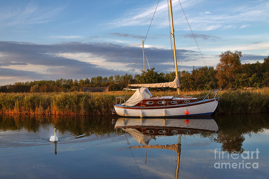 Travel Photograph - Horsey Mere In Evening Light by Louise Heusinkveld