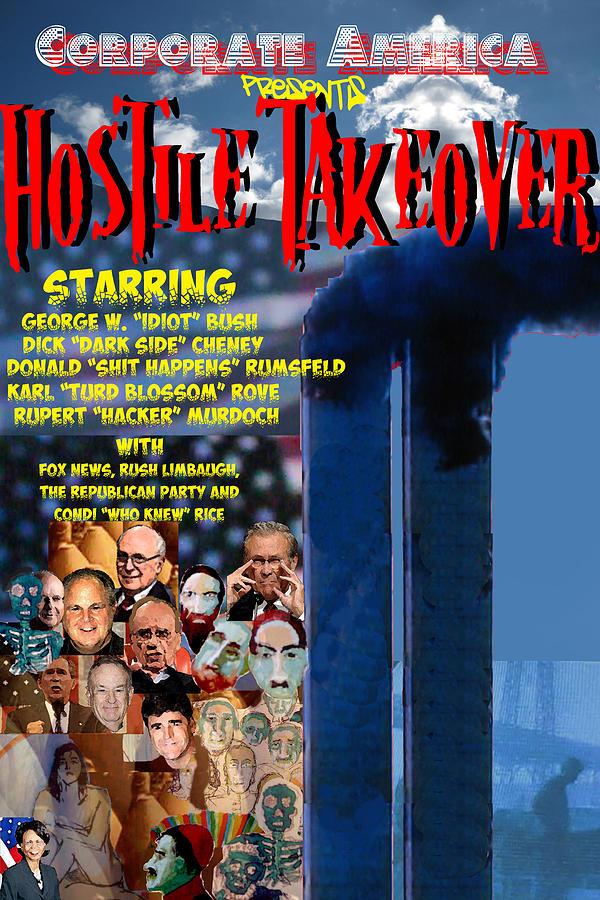 Politics Digital Art - Hostile Takeover by James Gallagher