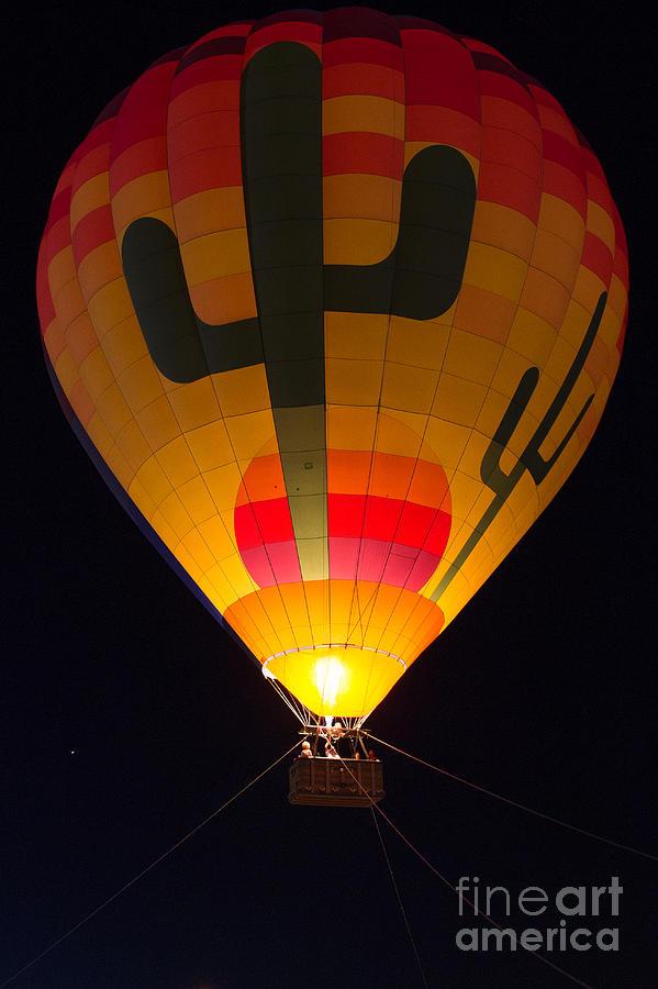Hot Air Balloon Photograph - Hot Air Above Arizona by Patty Descalzi