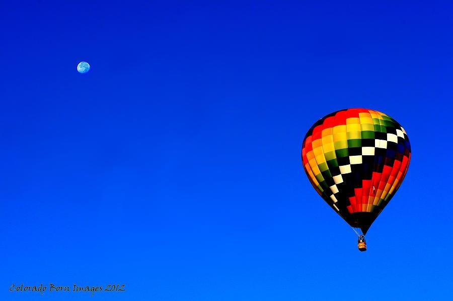 Hot Air Ballon Photograph - Hot Air Ballon To The Moon by Rebecca Adams