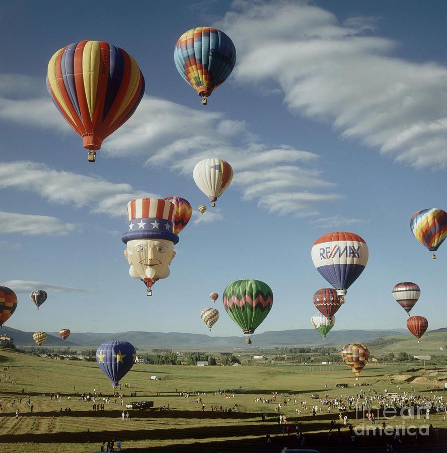 Hot Air Balloon Photograph - Hot Air Balloon by Jim Steinberg