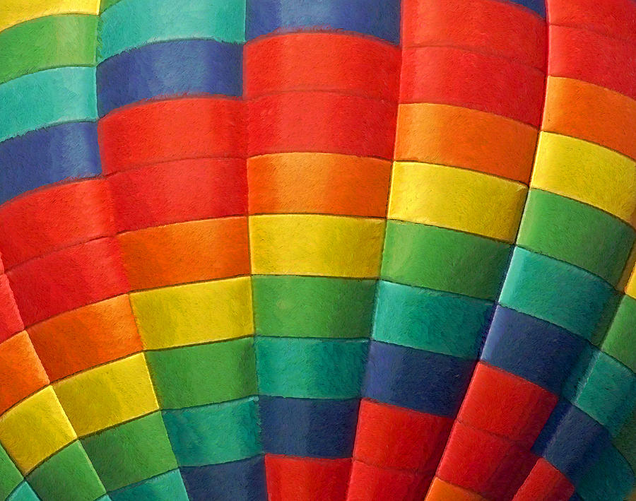 Balloons Photograph - Hot Air Balloon Painterly by Ernie Echols