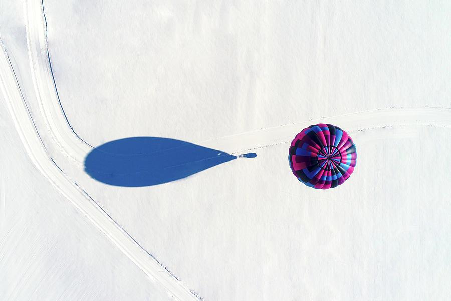 Hot Air Balloon Seen From Above Photograph by Jonas Hoffmann / Eyeem