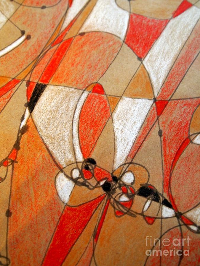 Abstract Drawing Drawing - Hot Air Ballooning by Nancy Kane Chapman