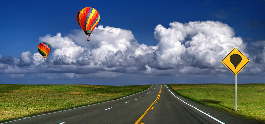 Scenic Photograph - Hot Air Balloons by Carlos Gotay