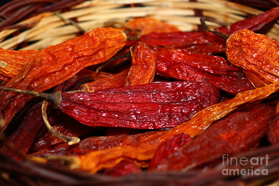 Chilis Photograph - Hot And Spicy by James Brunker