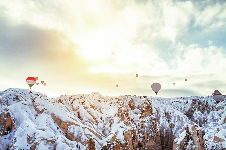 Hot Balloon In The Morning Photograph by Shan.shihan