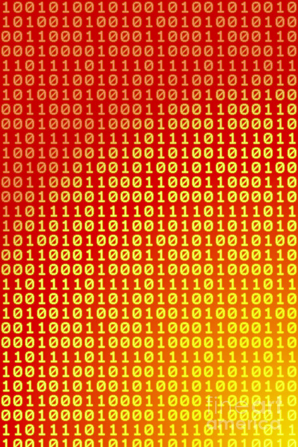 Information Digital Art - Hot Bits by Gaspar Avila