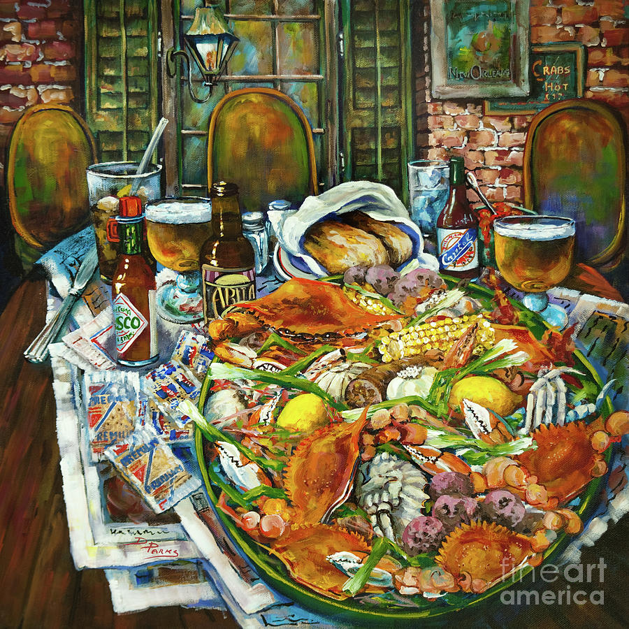 New Orleans Painting - Hot Boiled Crabs by Dianne Parks