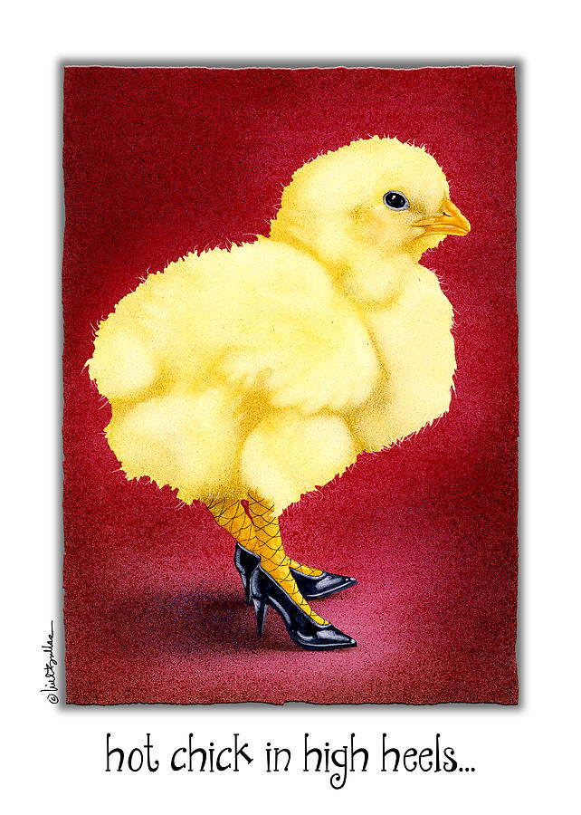 Will Bullas Painting - Hot Chick In High Heels... by Will Bullas