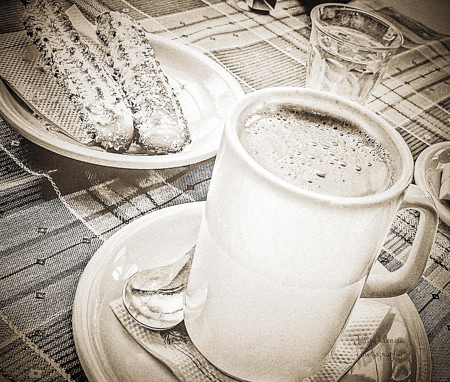 Hot Chocolate Photograph - Hot Chocolate In Cold Ushuaia by Julie Palencia