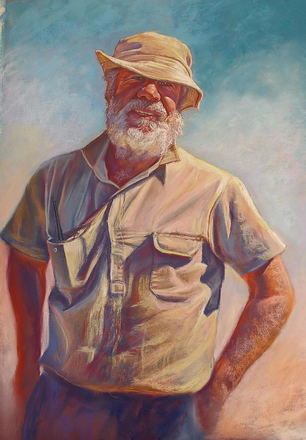 Hot Portrait Male Man Australia Tarcombe Painting - Hot Day At Tarcombe by Lynda Robinson