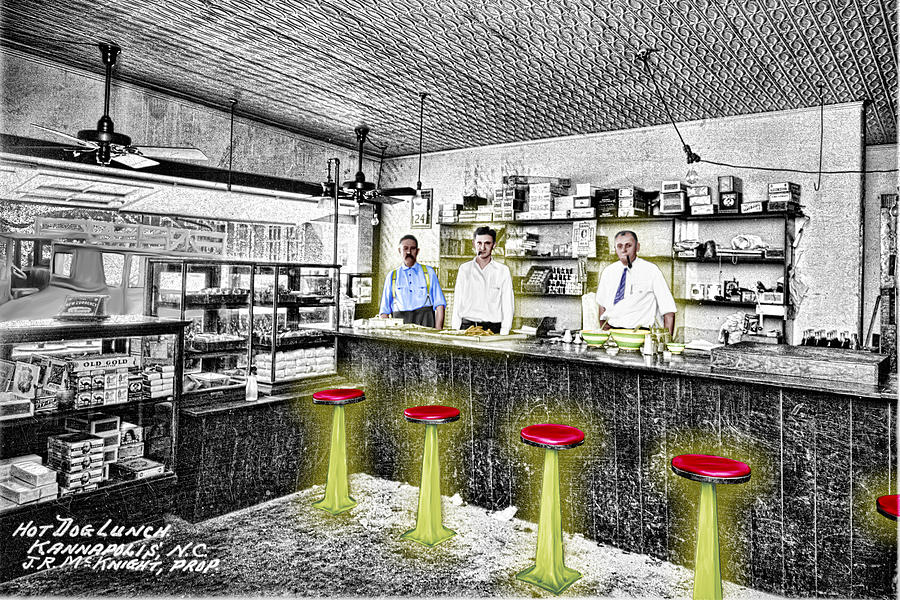 Hot Dogs Digital Art - Hot Dog Lunch by Barry Moore