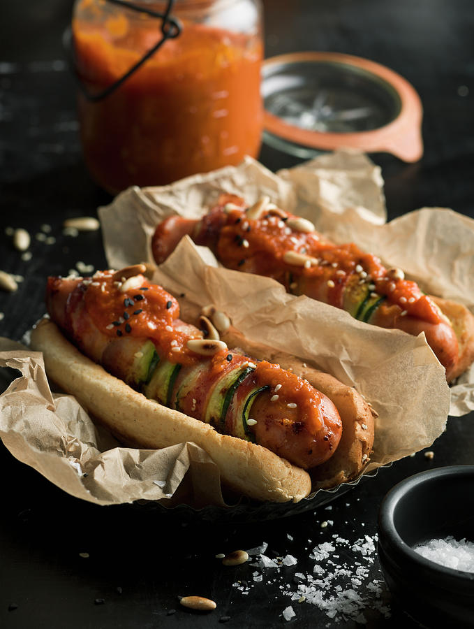 Hot Dogs Photograph by Johner Images