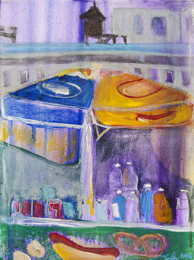e7a1a80bf Hot Dogs Painting by Leela Payne