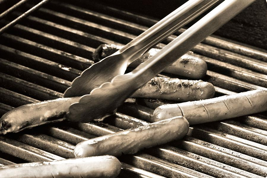 Hot Dogs On The Grill Photograph - Hot Dogs On The Grill by Dan Sproul