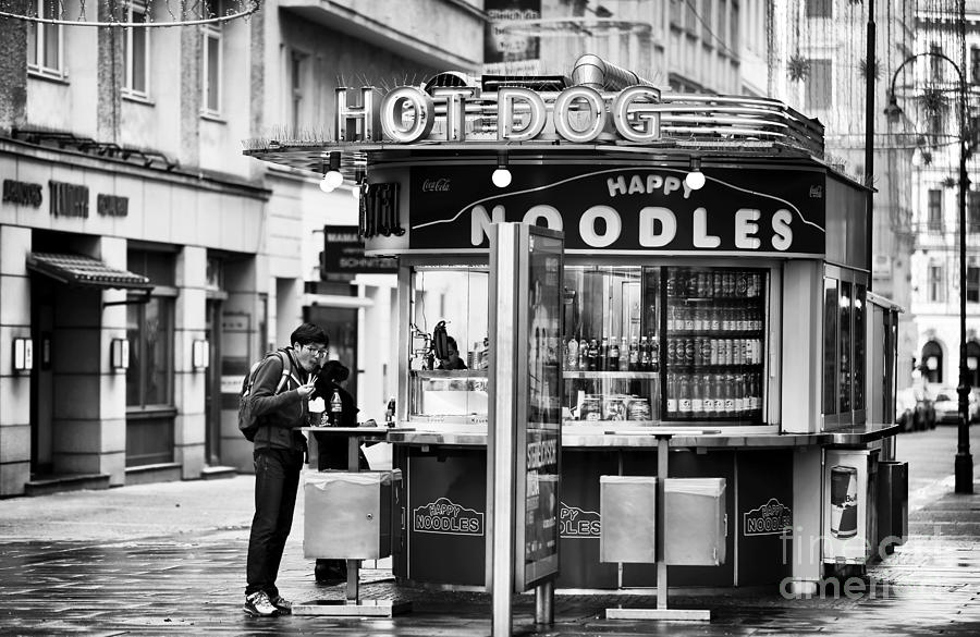 Noodles Photograph - Hot Dogs Or Noodles by John Rizzuto