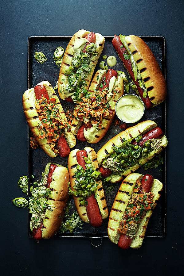 Hot Dogs With Relish Photograph by Photograph By Eric Isaac