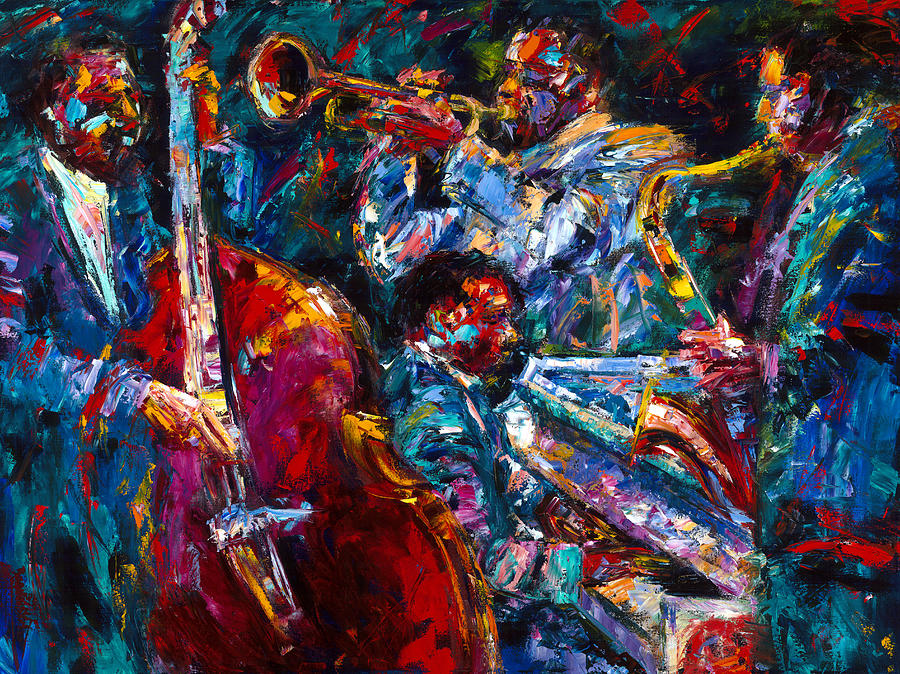 Jazz Painting - Hot Jazz by Debra Hurd
