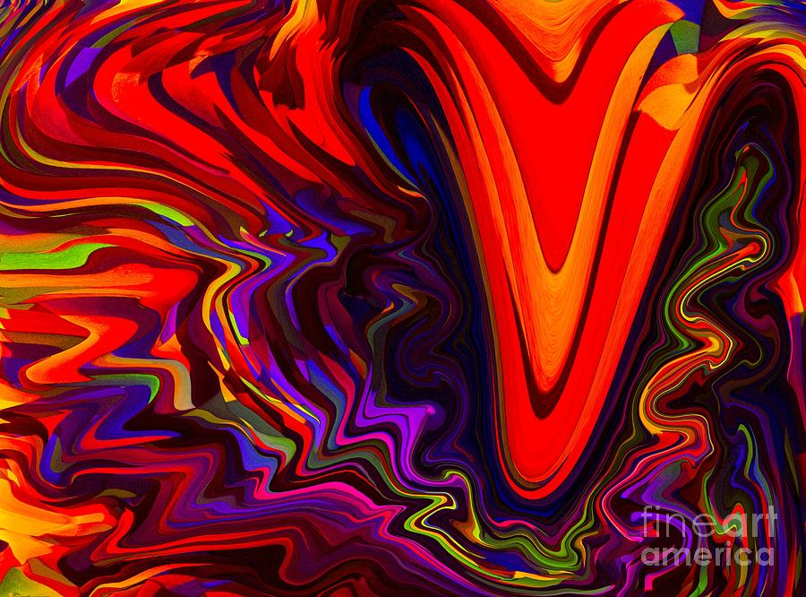 Abstract Pastel - Hot Kiss by Imani  Morales