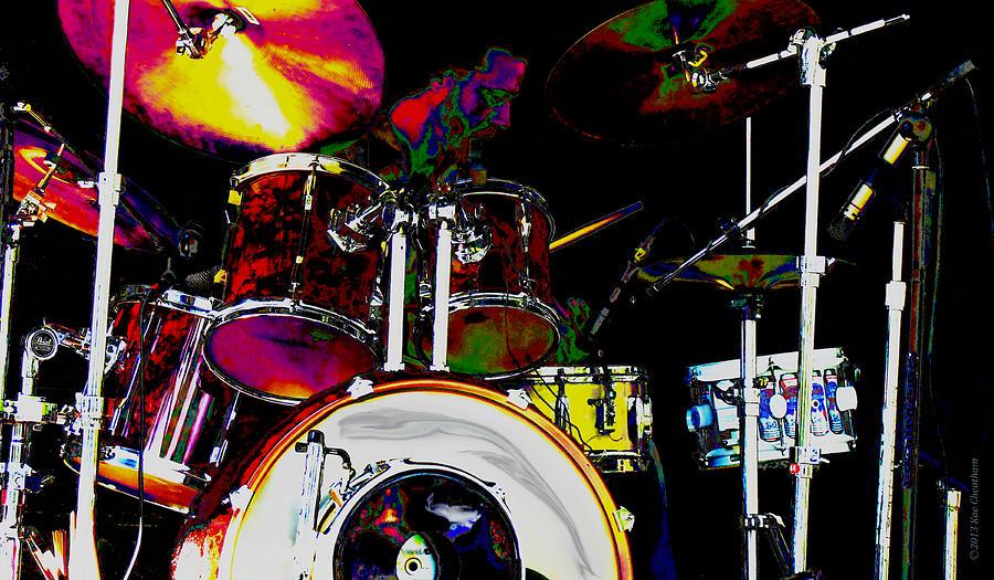 Music Digital Art - Hot Licks Drummer by Kae Cheatham