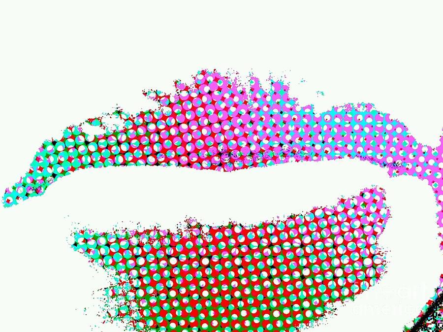 James Eye Fine Art Digital Art - Hot Lips Bb by James Eye