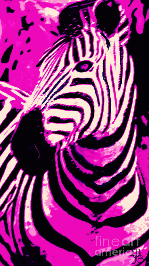 Hot Pink Zebra Digital Art By Mindy Bench