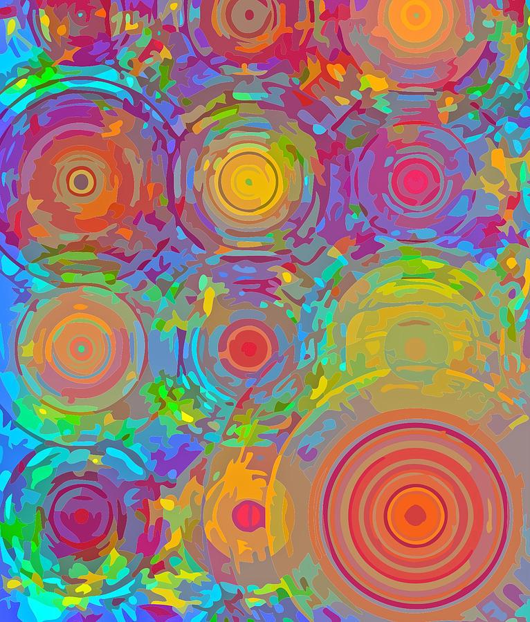 Abstract Digital Art - Hot Spots by  Artcetera By      LizMac