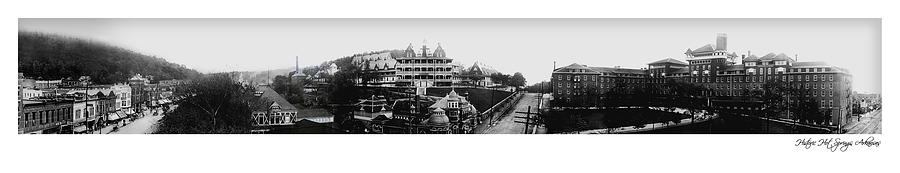 Panoramic Photograph - Hot Springs Arkansas Panoramic by Retro Images Archive