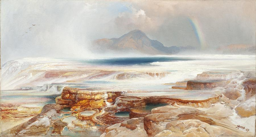 Thomas Moran Digital Art - Hot Springs Of Yellowstone by Thomas Moran