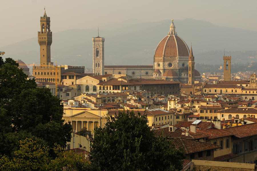 Hot Summer Afternoon In Florence Italy Photograph