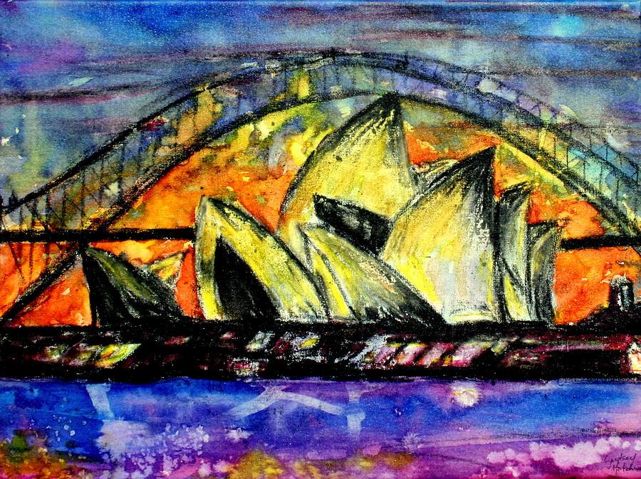 Sydney Painting - Hot Sydney Night by Lyndsey Hatchwell