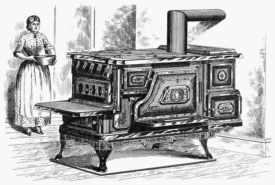 1875 Drawing - Hot Water Oven, 1875 by Granger