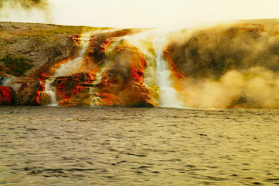 Volcanoes Photograph - Hot Water Pouring by Jeff Swan