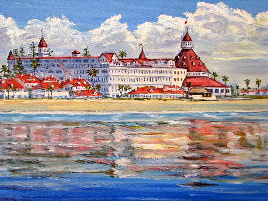 Hotel Del Coronado Reflections Painting By Robert Gerdes