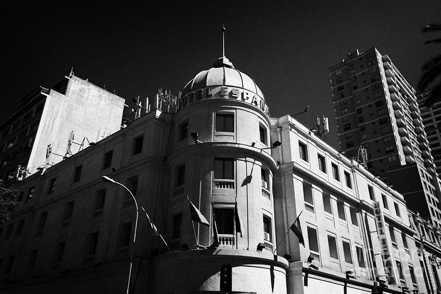 Hotel Photograph - hotel espana Santiago Chile by Joe Fox
