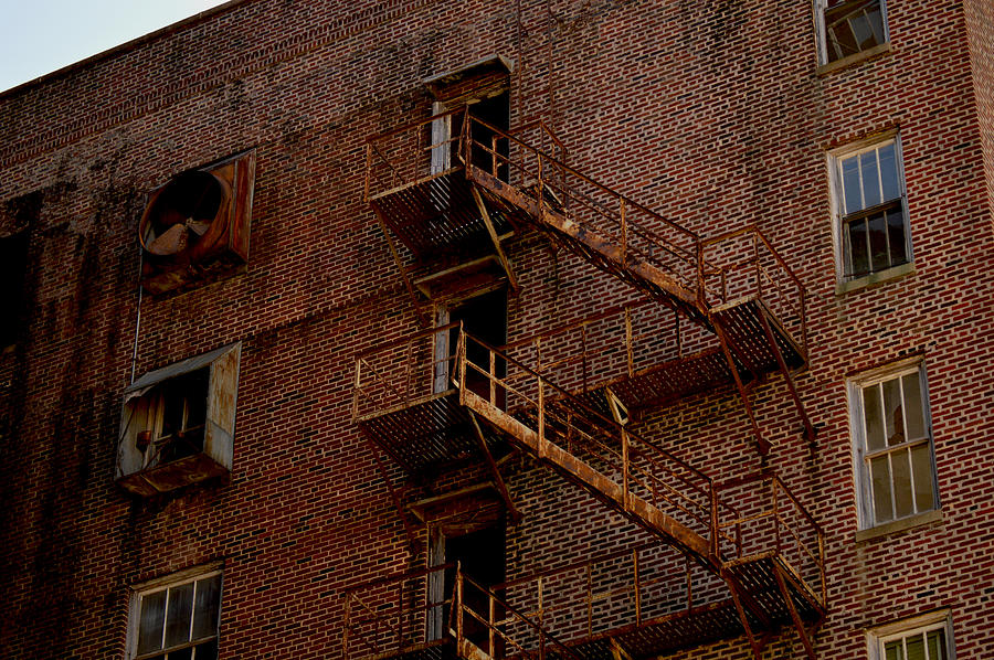 Texarkana Photograph - Hotel Grim Fire Escape by Joel Wright