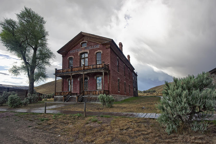 hotel meade   bannack ghost town   montana photograph by