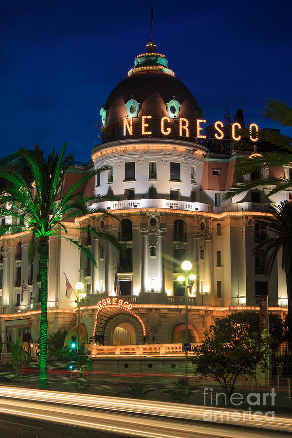 Cote D'azur Photograph - Hotel Negresco By Night by Inge Johnsson