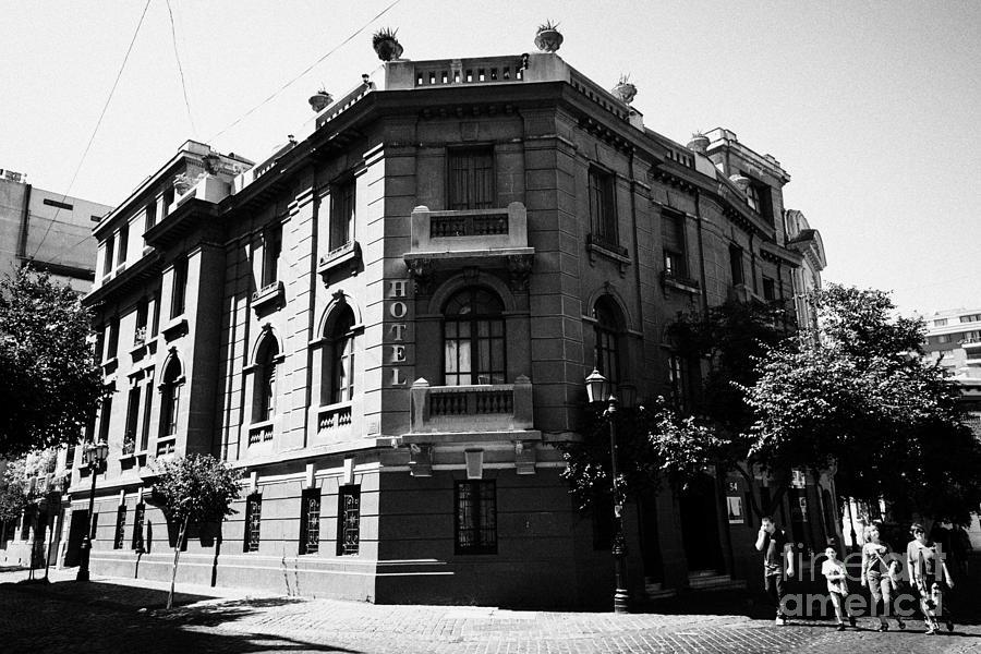 Barrio Photograph - hotel paris-londres barrio paris londres Santiago Chile by Joe Fox