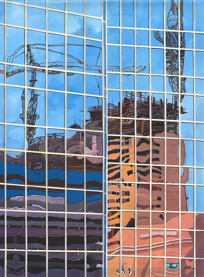 Architecture Painting - Hotel Rising by Alika Kumar