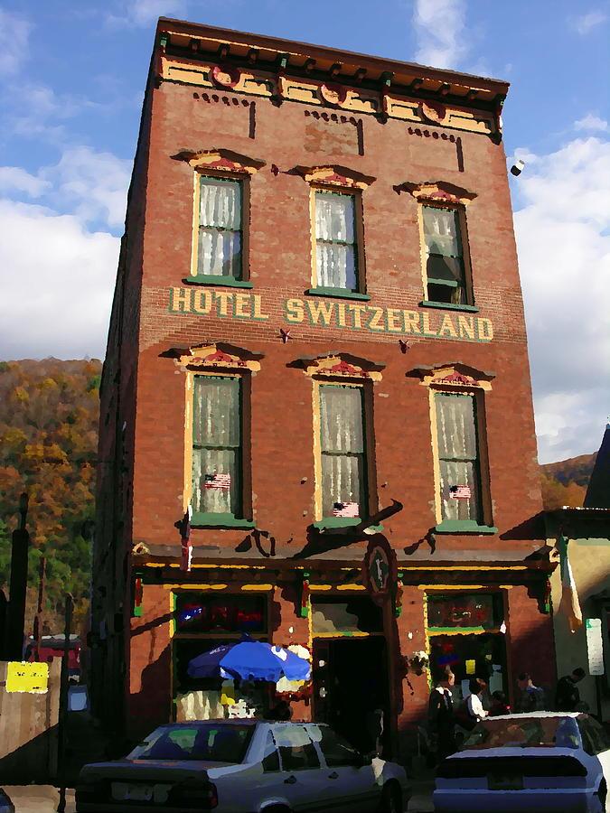 Jim Thorpe Pa Photograph - Hotel Switzerland In Jim Thorpe Pa by Jacqueline M Lewis