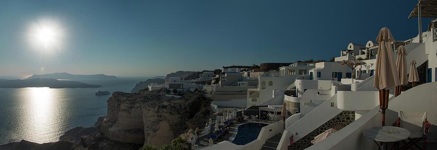 Hotels On The West Coast Of Santorini Photograph by Ed Freeman