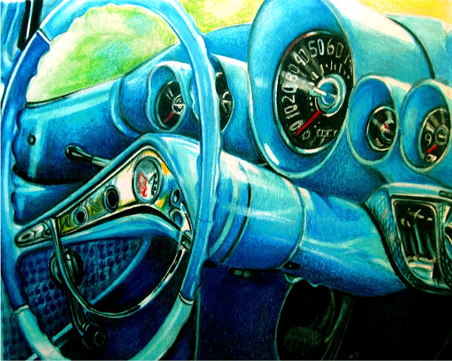 Color Pencil Drawing - Houndstooth by Kathleen Bischoff