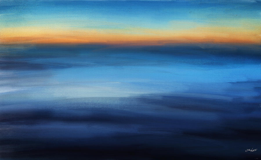 Abstract Seascape Digital Art - Hour Of Dreams by Lourry Legarde