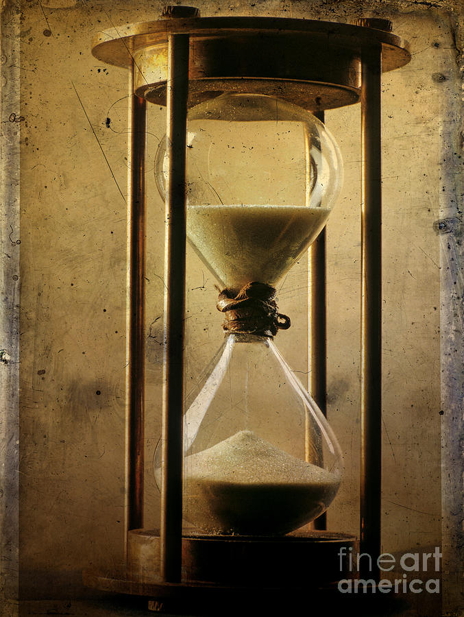 Clock Photograph - Hourglass  by Bernard Jaubert