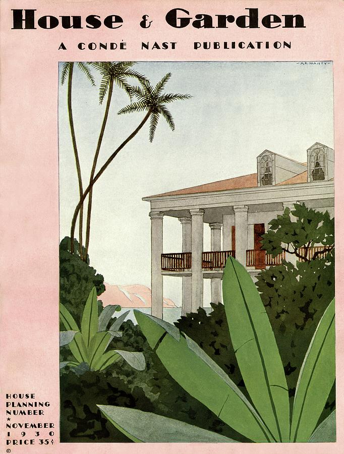 House & Garden Cover Illustration Photograph by Andre E.  Marty