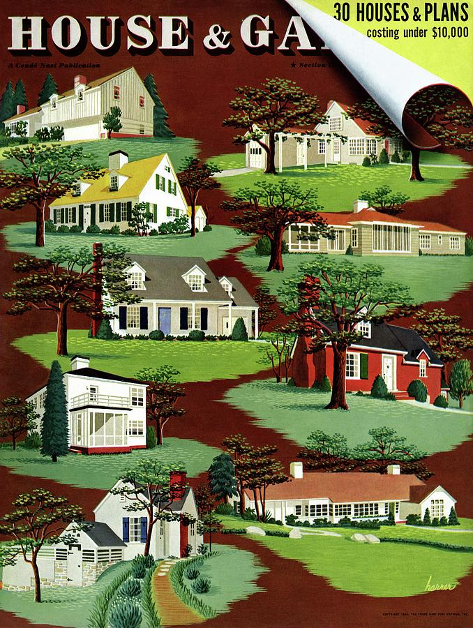 House & Garden Cover Illustration Of 9 Houses Photograph by Robert Harrer