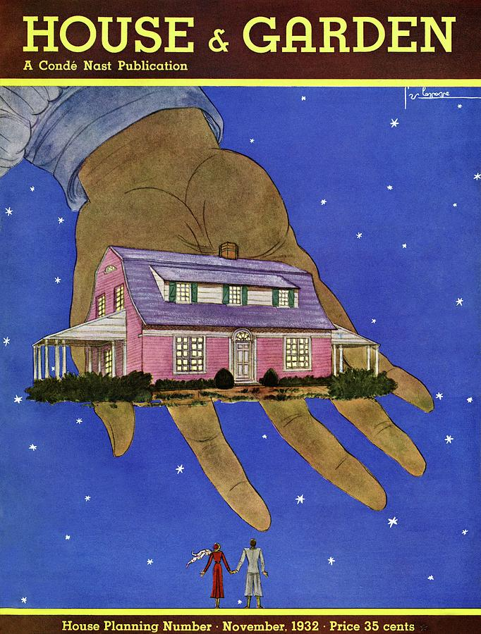 House & Garden Cover Illustration Of A Giant Hand Photograph by Georges Lepape